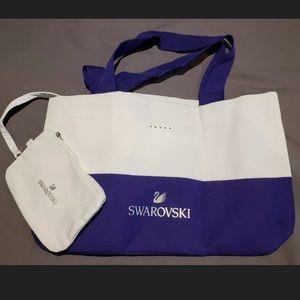 Swarovski tote with pouch crystals rhinestone bag
